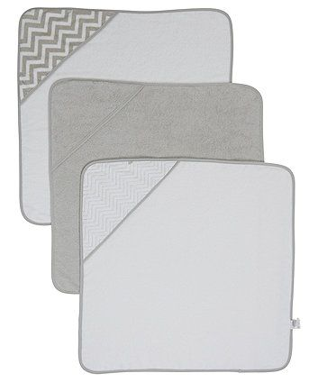 Mothercare Grey Cuddle 'N' Dry Hooded Towels - 3 Pack