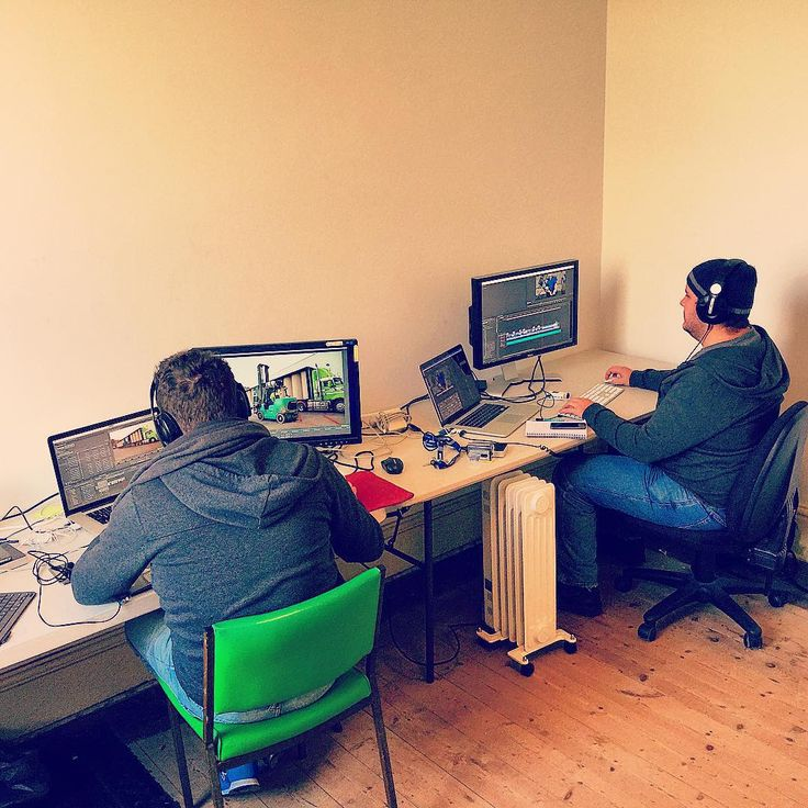 A first look at our expanding empire. After taking over another space at our office this week, we're slowly putting together what will become the Hook Media video editing suite! Thanks to today's models Nick and Jeremy, looking great in their matching jackets!