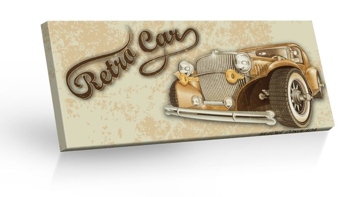 Retro Choco Cars - Retro Car - mléčná čokoláda 100g