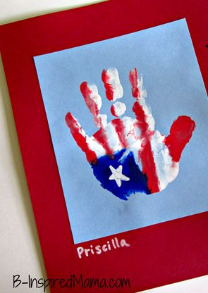 memorial day handprint art
