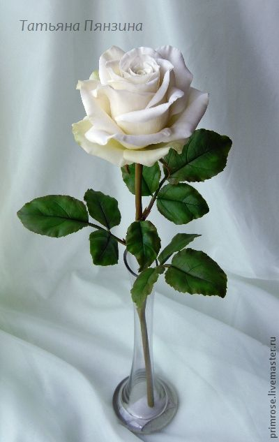 Cold porcelain rose by Marrietta