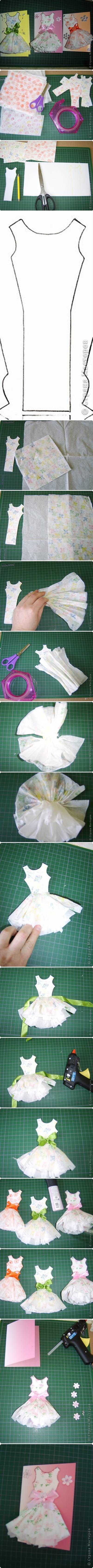 DIY Paper Dress Card Topper DIY Paper Dress Card Topper