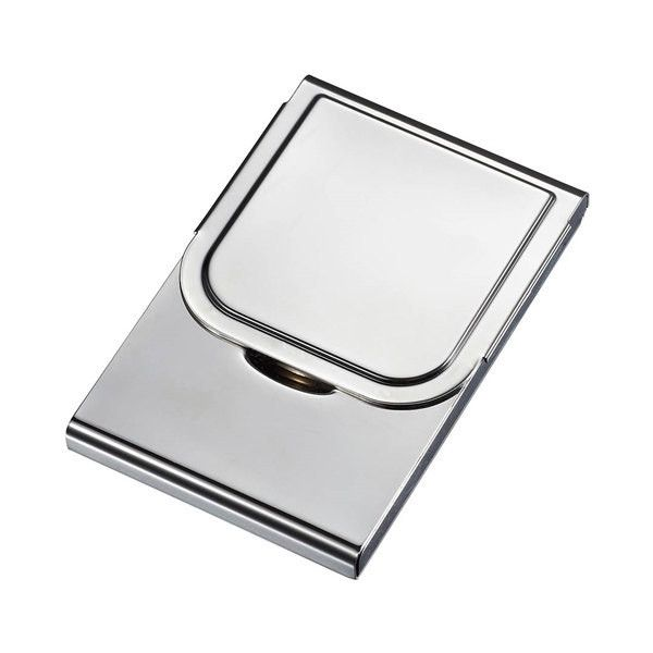 Personalized Business Card Case Holder Large Silver Engraved Card Case... ($19) ❤ liked on Polyvore featuring home, home decor, office accessories, home & living, light yellow, office, personalized card case, silver business card case, business card case and silver chart