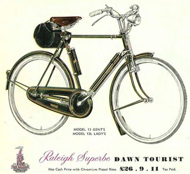 »1959 Raleigh Superbe Amanecer turística El Museo de bicicletas Online