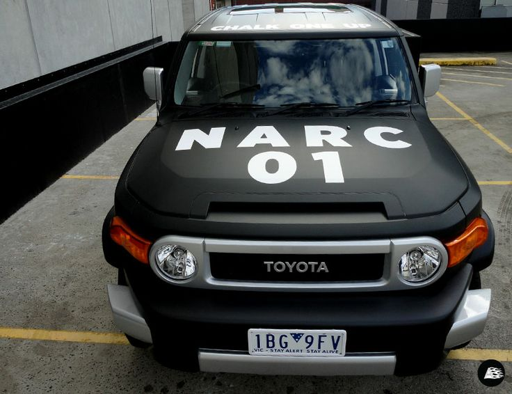matte black wrap, Toyota FJ Cruiser, Narcotic Nutrition
