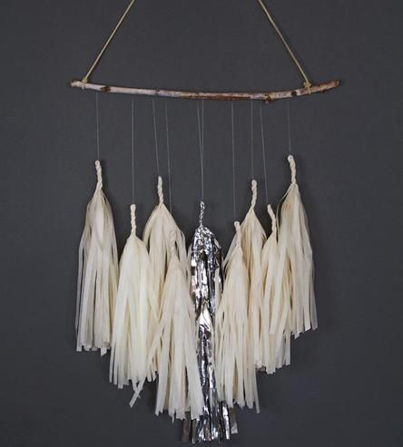 Snowfall Tassel Mobile by Paper Fox LA on Scoutmob Shoppe