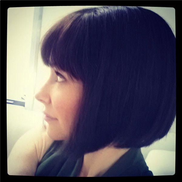 Evangeline Lilly Debuts Bob Haircut for Ant-Man Role—See the Pics! Evangeline Lilly, Instagram