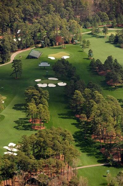 Holes #7 and #17, Masters Championship, Augusta National Golf Club, Augusta, GA