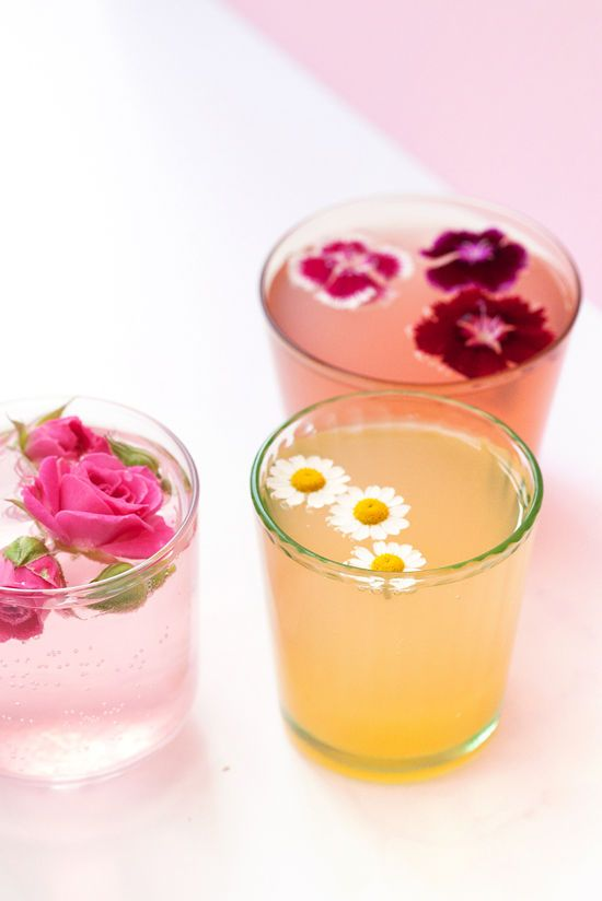Lovely Floral Drink Garnishes