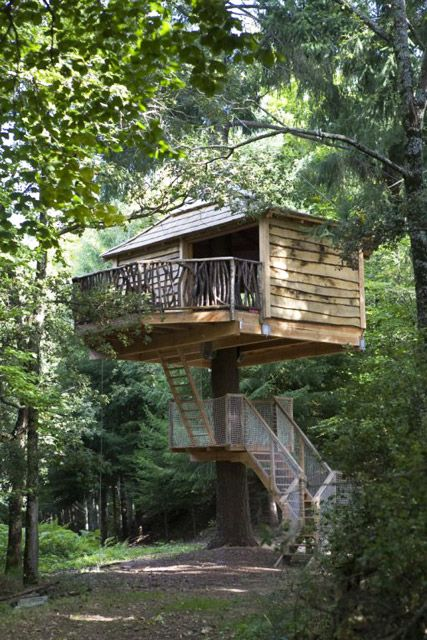 Quiero dormir en una cabaña en un árbol! -> Cabanes als arbres