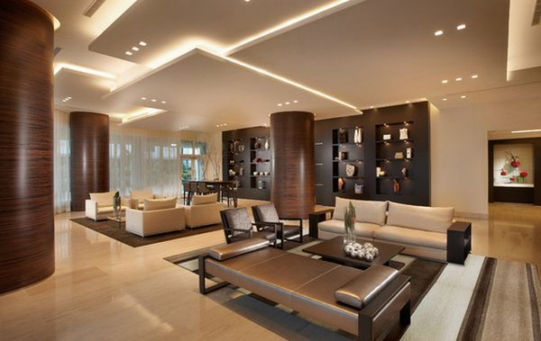 Sculptural ceiling designs are wuite popular in modern homes