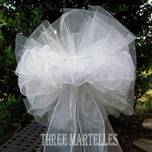 wedding tulle bows - Google Search
