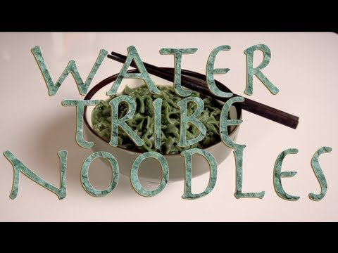 This youtube channel is awesome! They create food based off your favorite cartoon shows and comics. Water tribe noodles from Feast of Fiction Youtube Channel.