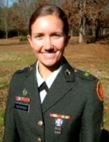 Army Spc. Erica P. Alecksen, 21, of Eatonton, Georgia. Died July 8, 2012, serving during Operation Enduring Freedom. Assigned to 978th Military Police Company, 93rd Military Police Battalion, Fort Bliss, Texas. Died of wounds suffered when enemy forces attacked her unit in Maidan Shahr, Wardak Province, Afghanistan, with an improvised explosive device.