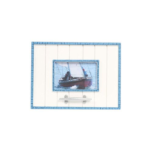"Found it at Wayfair - Latitude 38 4"" x 6"" Nautical Wood Picture Frame with Cleat"