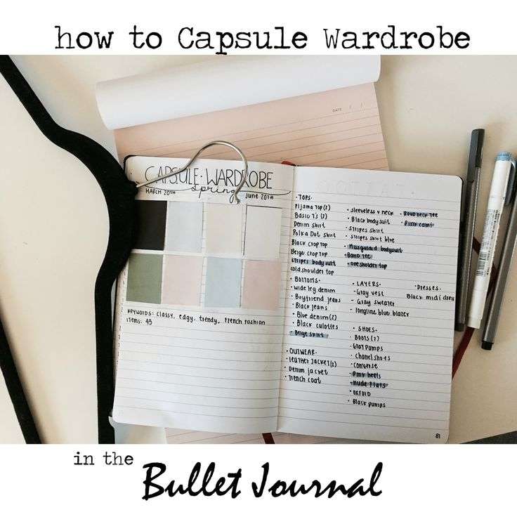 HOW I CAPSULE WARDROBE IN MY BULLET JOURNAL