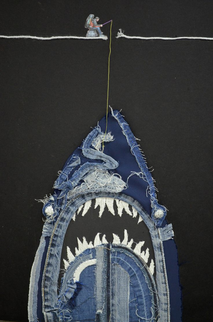Jaws:collage,2011,80ⅹ50  It was drawn by Dahae Ji. g.daz
