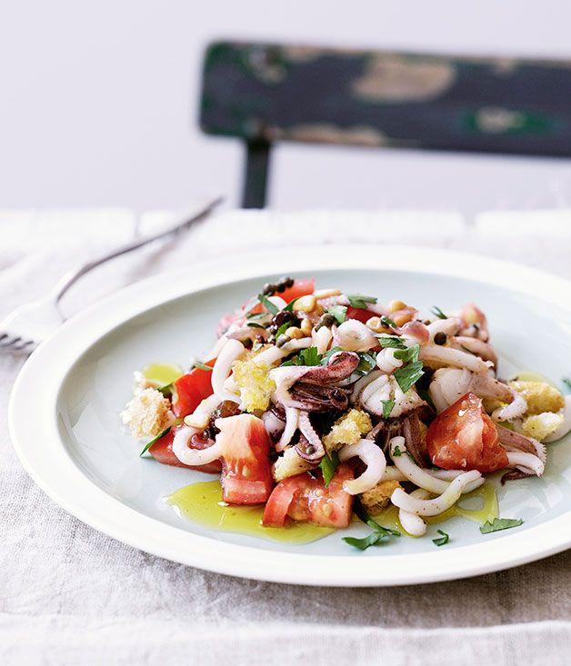 Sicilian calamari salad | Beautiful Salads | Pinterest ...