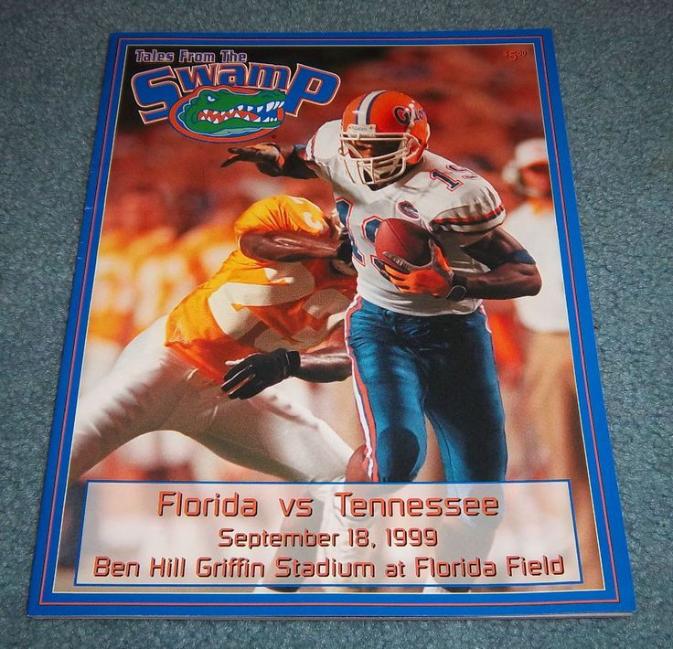 Florida Gators vs Tennessee Football Game Program Magazine 1999  #FloridaGators
