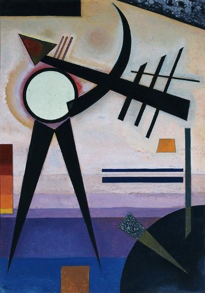 Wassily Kandinsky, Green Split, 1925 on ArtStack #wassily-kandinsky-vasilii-vasil-ievich-kandinskii #art
