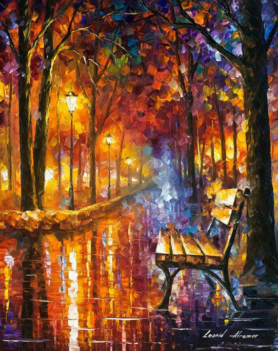 Loneliness Of Passion — PALETTE KNIFE Oil Painting On Canvas By Leonid Afremov #art #painting #fineart #canvas