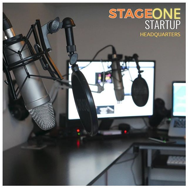 """""""A professional shot of the mic set-up at the Stage One Startup HQ (aka @greggnicholls bedroom! Who'd have thought?! lol)⠀ ⠀ When we first heard of a Podcast, we had no idea that you could run it from anywhere in the world whether it be your bedroom, garage, garden - you name it. We thought it had more professionalism to it and that you had to have a pro studio setup etc with qualified techies helping put it together.⠀ ⠀ Here we are, 1 year later running this thing between two young guys,  a…"""