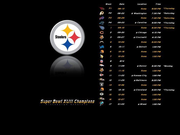 Pittsburgh Steelers 2016 2016 Schedule