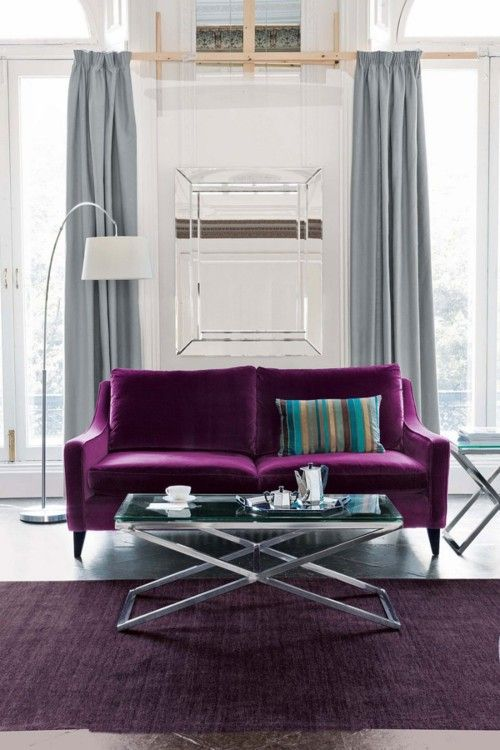 Best 25+ Purple sofa ideas on Pinterest | Purple living room sofas, Purple  sofa design and Living room decorating ideas without sofa