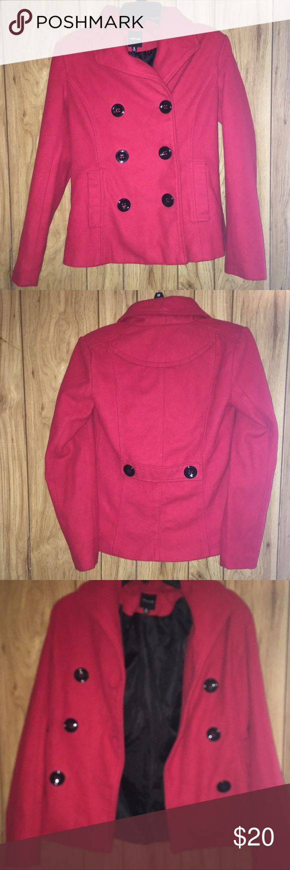 Red Pea Coat Red Pea Coat 😍 Free Gift With Every Order ✨ Fast Shipping ✈️ Same Day Shipping If Ordered Before 3PM ✔️ Offers Welcome ❗ Jackets & Coats Pea Coats