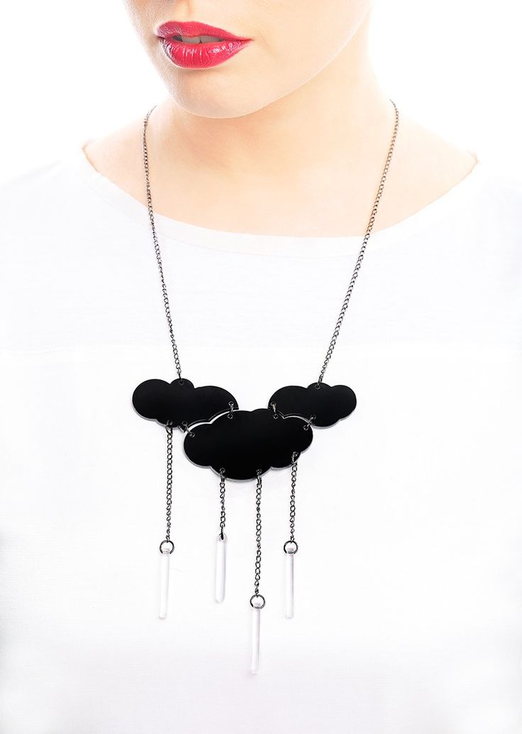 Rainy Day Necklace via LIFE IN MONO. Click on the image to see more!