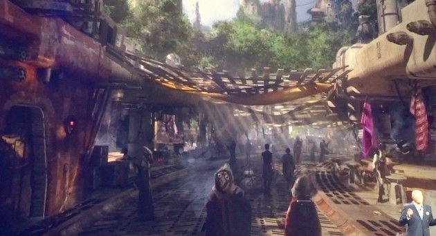 Star Wars Land –Both Disneyland and Disney World (art released 2015)