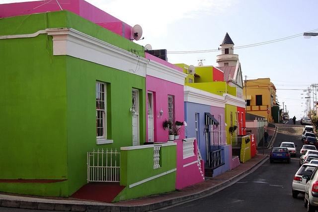 Colourful Bo Kaap Houses, Cape Town, South Africa. Casas coloridas de Bo Kaap, Cidade do Cabo, África do Sul.  Photo copyright: Warren Rohner aka warrenski