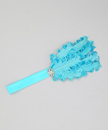 Take a look at this Turquoise Jewel Feather Headband by Hipbabies on #zulily today!