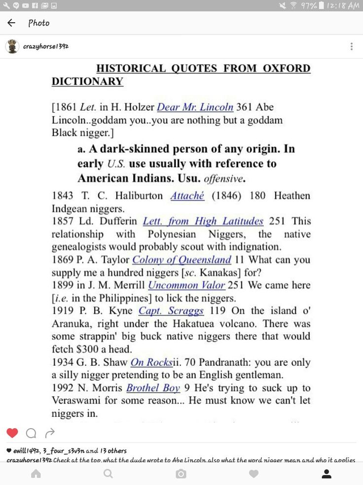 Oxford English dictionary definition of nigger. 2003 edition