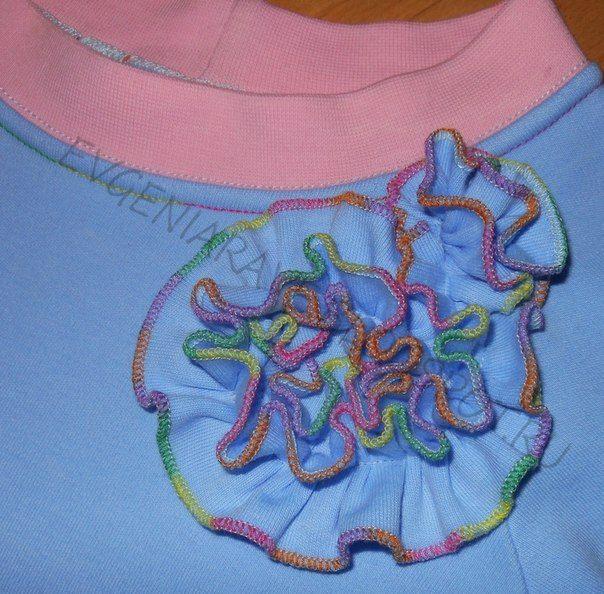 Одежда для детей с вышивкой.