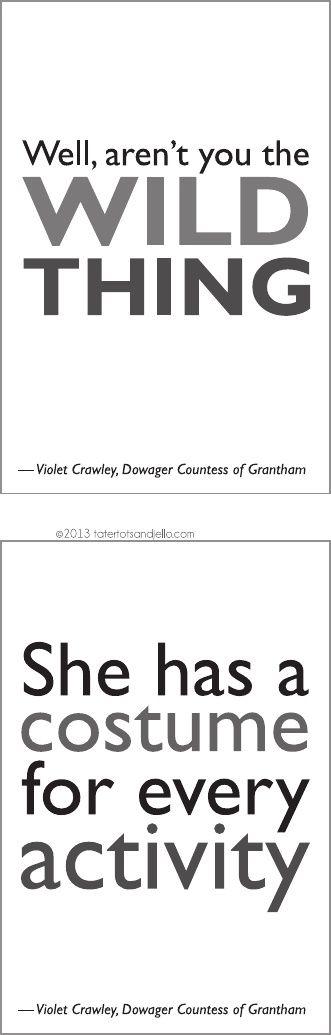 Downton Abbey Season Three Free Quotes and Bunting Printables