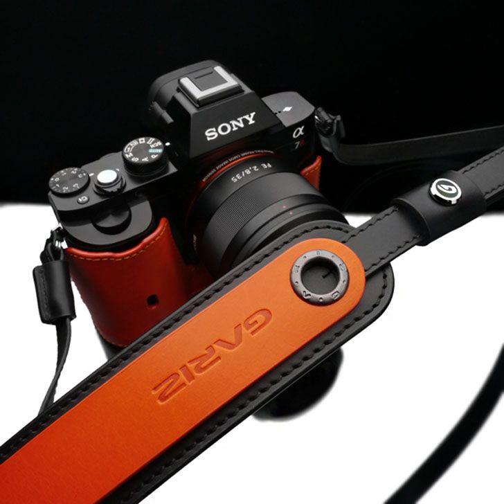 GARIZ/ゲリズGenuine Leather Camera Neckstrapおしゃれ本革カメラストラップXS-CHLSNOR2/オレンジ【楽天市場】