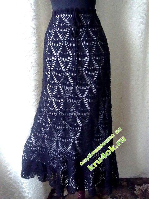 Ажурная юбка — работа Натали - вязание крючком на kru4ok.ru