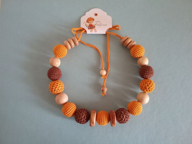 Nursing Necklace/Teething Necklace Orange/Breastfeeding/Sling Accessory/Tangerine/pumpkin/autumn/juniper necklace autumn/Baby wearing by gingermood on Etsy