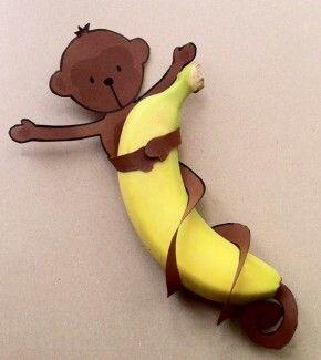 Aapjes eten bananen