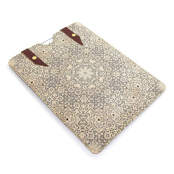 I love, love this Leather iPad Air case  Lace by tovicorrie on Etsy, $95.00