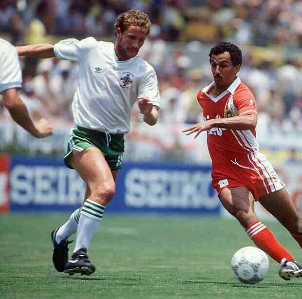 N. Ireland 1 Algeria 1 in 1986 in Guadalajara. Mohammed Kaci Said goes by Billy Hamilton in Group D of the World Cup Finals.