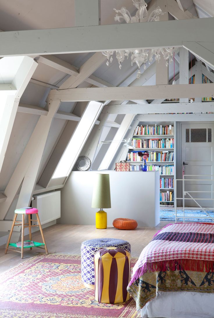 Attic room...looks like our attic! I wish it was closed in!