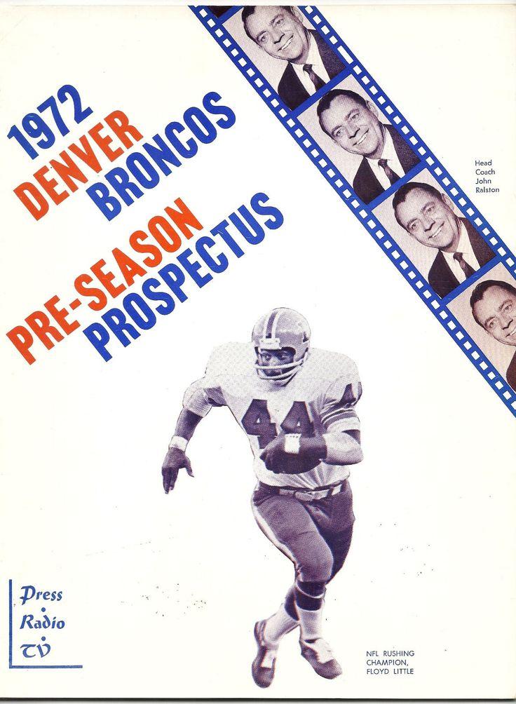 1972 Denver Broncos preseason prospectus
