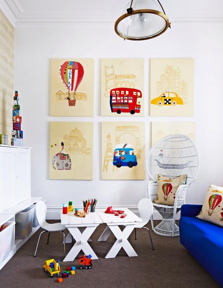 Great vintage play room idea