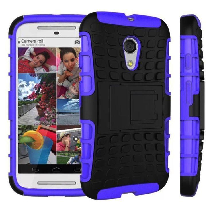 MOTOROLA MOTO G (2ND GEN) CASE, TPU PRIME DUAL LAYER COVER WITH KICKSTAND (PURPLE)   #cellphonegadgets #mobileaccessories www.kuteckusa.com