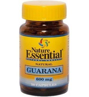 50 cápsulas de Guarana 600 mg. Proporciona energía, contra la fatiga y migrañas.  Ejerce su acción sobre el tejido muscular haciendo cesar la fatiga y repercutiendo además sobre el sistema nervioso central facilitando la actividad intelectual. Es un tónico y estimulante general, idóneo para los estados depresivos, bajón anímico, fatiga, estrés, desgaste.