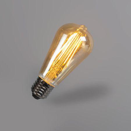 Bombilla filamento LED ST64 5W 2200K dorada regulable