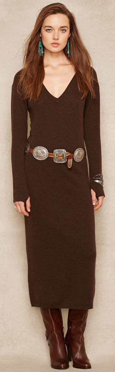 Ralph Lauren Cashmere Long Sleeve Dress