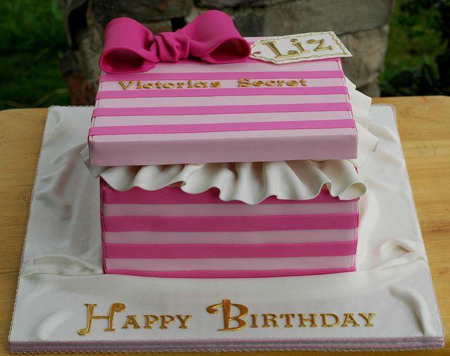Victoria's Secret Gift Box Cake by Creative Cake Designs (Christina), via Flickr